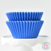 Blue Solid Cupcake Liners