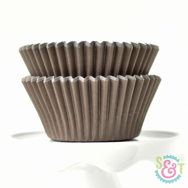 Brown Solid Cupcake Liners