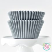 Gray Solid Cupcake Liners