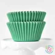 Green Solid Cupcake Liners