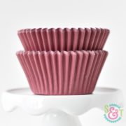 Maroon Solid Cupcake Liners