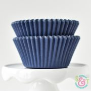 Navy Solid Cupcake Liners