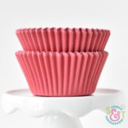 Red Solid Cupcake Liners