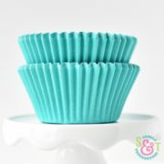 Teal Solid Cupcake Liners
