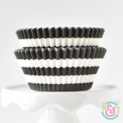 Black Stripe Cupcake Liners