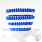 Blue Stripe Cupcake Liners