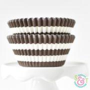 Brown Stripe Cupcake Liners