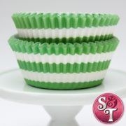 Lime Stripe Cupcake Liners