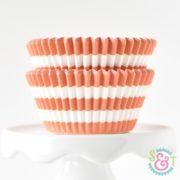 Orange Stripe Cupcake Liners