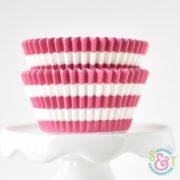 Pink Stripe Cupcake Liners