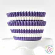 Purple Stripe Cupcake Liners