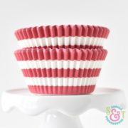 Red Stripe Cupcake Liners