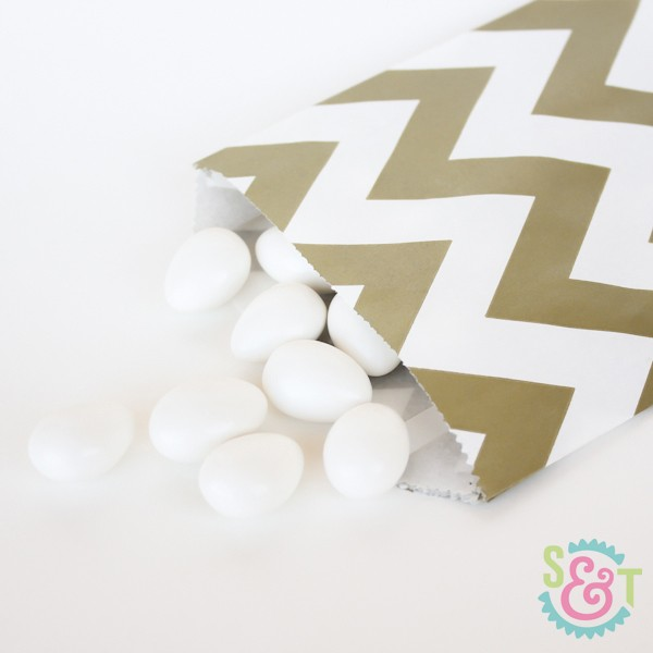 Gold Chevron Goodie Bags