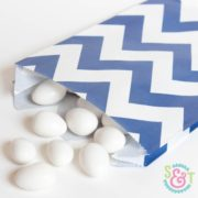 Navy Chevron Goodie Bags