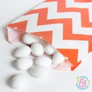 Orange Chevron Goodie Bags