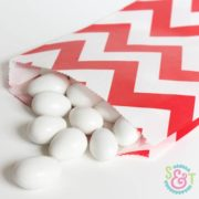 Red Chevron Goodie Bags