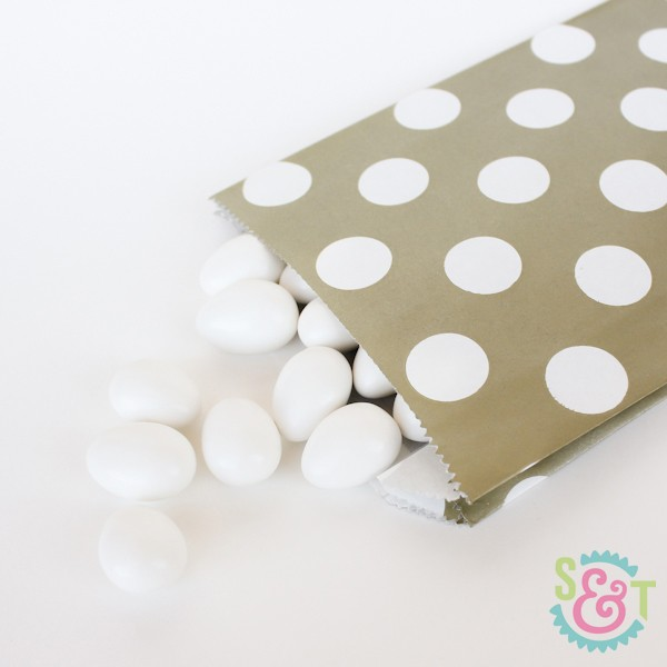 Gold Dots Goodie Bags