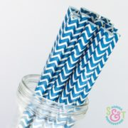 Navy Chevron Paper Straws