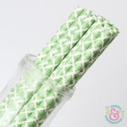 Green Damask Paper Straws