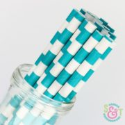 sweetsandtreats-paper-straws-angle-rugby-stripe-aqua-blue-wm_1