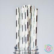 sweetsandtreats-paper-straws-angle-stripe-silver-foil-wm